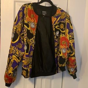 Faux-Versace-Style Bomber Track Jacket✨